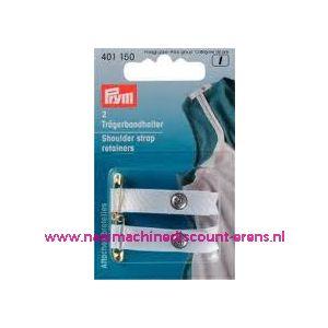 001331 / Schouderbandhouder Wit Met Veiligheidsspeld art. nr. 401150