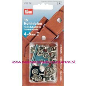 001342 / Holnieten 4-6 Mm Materiaaldikte Ms Zilverkl.nr.403151