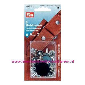 001343 / Holnieten 6-9 Mm Materiaaldikte Ms Zilverkl.nr.403152