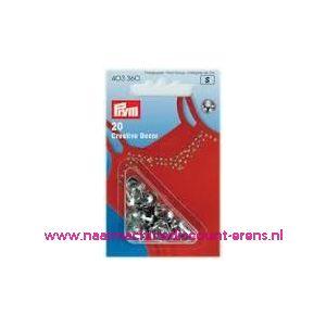 001345 / Siernieten Halve Bol Zilverkleurig Om Op Te Steken 403360