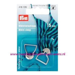001361 / Bikinisluiting Metaal 15 Mm Zilverkleurig prym art.nr.416126