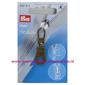 001409 / Modische Schuiver Ring Oudmessing Prym art. nr. 482411