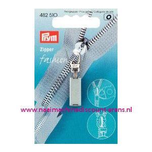 001412 / Fasion Zipper Techno Zilverkl. prym art. nr. 482510