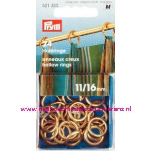 Gordijnringen Ms Goudkleurig 11/16 Mm prym art. nr. 521330 - 1413