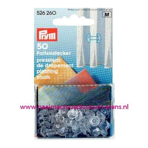 001416 / Clips Voor Gordijnplooien Kst Transparant prym art.nr.526260