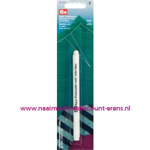 001508 / Aqua-Markeerpen Wit Uitwasbaar prym art.nr.611824