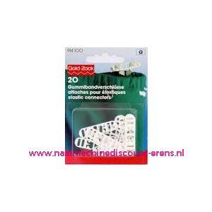 001560 / Elastiek Sluitingen 6 Mm Wit Goldzack art. nr. 914100