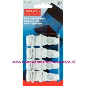 001572 / Mini-Jarretel Ruche-Veloursband Kst 15 Mm Wit nr. 933280