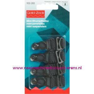 Mini-Jarretel Ruche-Veloursband Kst 15 Mm Zwart nr. 933283 - 1574