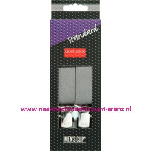 001581 / Men Clips Standaard 110 Cm 25 Mm Donkergrijs art. nr. 944101