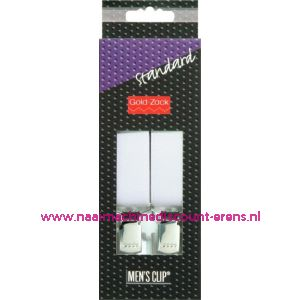 Men Clips Standaard 110 Cm 25 Mm Wit Bretels art. nr. 944110 - 1583