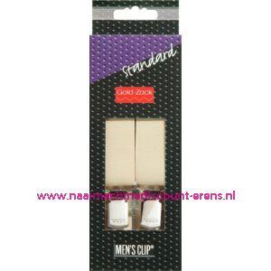 001584 / Men Clips Standaard 110 Cm 25 Mm Vaniile art. nr. 944111