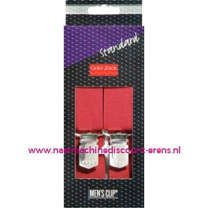 001588 / Men Cips Standaard 110 Cm 25 Mm Bordeaux art. nr. 944173
