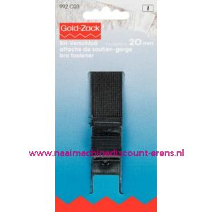 Bh-Sluiting Met Huidbescherming 3Sl. 20 Mm Zwart art.992023 - 1628