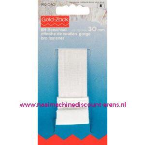 001630 / Bh-Sluiting Met Huidbesch.2 Sl. 30 Mm Wit art. nr. 992030