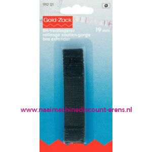 Bh-Verlengstuk 19 Mm Zwart 1 haakje art. nr. 992121 - 1640
