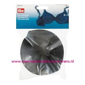 001667 / Push Up Bh Inleg-Cups One Size Zwart Overtrokken nr. 992326