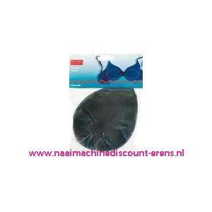 Bh Inleg-Cups Maat L Zwart Overtrok.100% Polyam.art.nr992346 - 1673