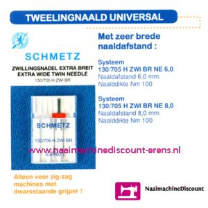 001722 / Tweeling Universal 130/705 H-ZWI-80  4,0 mm.
