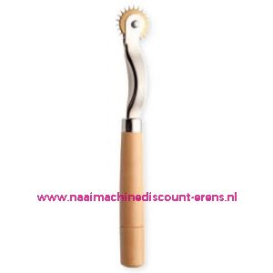 Radeerwieltje houten handgreep, extra spits art. nr. 611277 - 2179