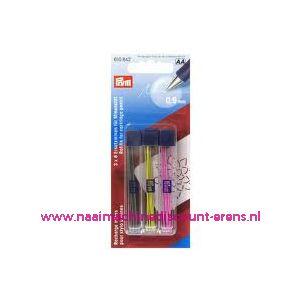 002183 / Vervangstiften voor vulpotlood 3 kleuren 18 stuks 610842