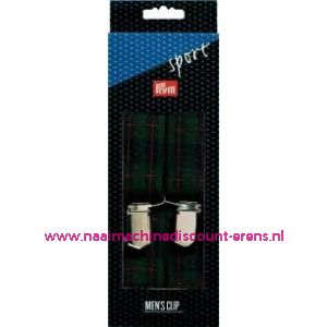 002285 / Bretels Sport groen-blauw-rood gestreept prym art. nr.944542