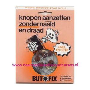 002307 / Butofix BRUIN Knopen aanzetten zonder naald en draad.