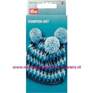 002342 / Pomponset 4 verschillende grootes Prym art. nr. 624153