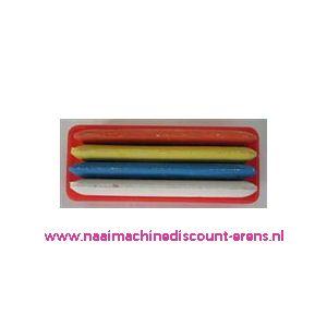 002389 / Kleermakerskrijt 4 kleuren verpakt