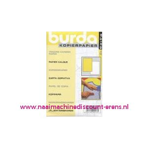002433 / Burda Kopieerpapier GEEL - WIT 2 X 83 Cm x 57 Cm