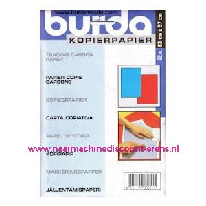 Burda Kopieerpapier ROOD - BLAUW 2 x 83 Cm x 57 Cm - 2434