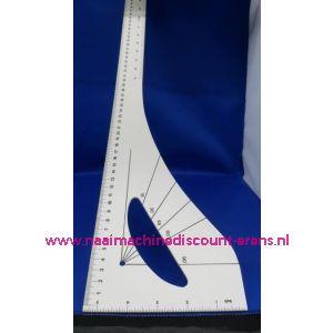 Coupeuse Liniaal / Tekenhaak Groot 60 Cm