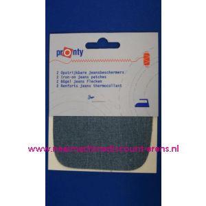 002619 / Kniestuk LICHT JEANS 11 x 10 Cm