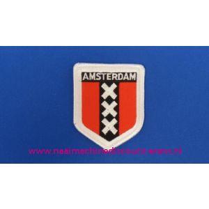 002768 / Amsterdam 3 X rood-wit schild