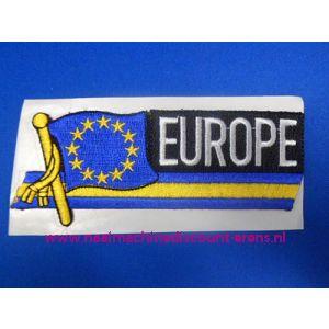 Europe met Vlag langwerpig - 2853