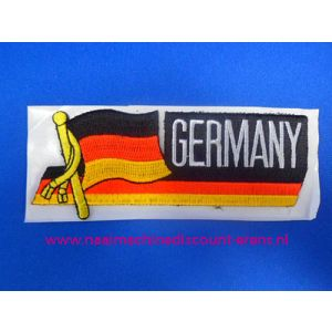Germany met Vlag langwerpig - 2854