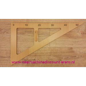 Houten Driehoek Liniaal 50 Cm