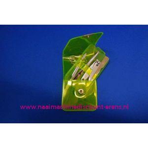 """003254 / Manicure set Luxe 4-delig """"fluor geel"""""""