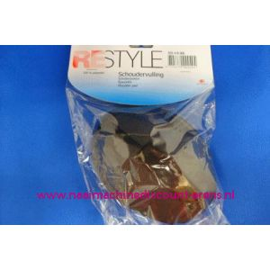 003282 / Schoudervulling RESTYLE raglan zwart met klittenband