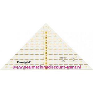 OMNIGRID/PRYM Driehoek liniaal Quarter Triangle 1/4 Square tot 8 inch prym art.nr. 611640