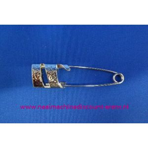 Kiltspeld gedraaid plat kleur Zilver art. nr. 10195 / 003432