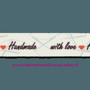 Band Handmade with Love kl.901 per meter prijs