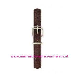 006150 / Sluiting leder imitatie Bruin prym art. nr. 416551