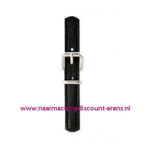 006184 / Sluiting leder imitatie Zwart prym art. nr. 416552