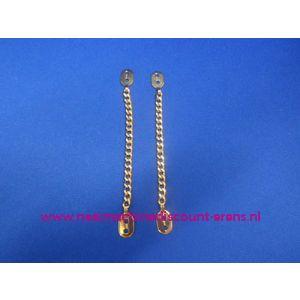 006271 / 2 Metalen jaslussen goud