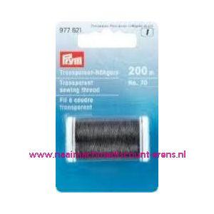 006281 / Transparant Naaigaren Zwart 200 M prym art. nr. 977621