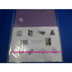 "006306 / Zelfklevende Glitter Stickers ""RESTYLE"" rose"
