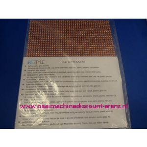 "006307 / Zelfklevende Glitter Stickers ""RESTYLE"" oranje"