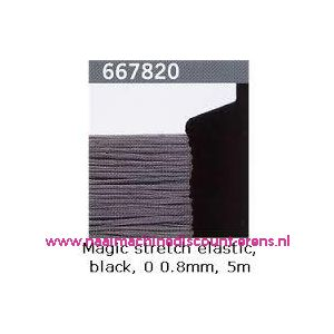 Gutermann Kralen Magic Stretch Zwart art. 667820 - 9372