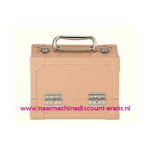 009902 / Leatherlook koffer M beige prym art. nr. 612813